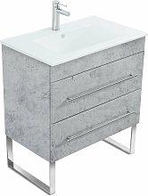 Mueble de baño con patas Casa Infinity 750 Gris
