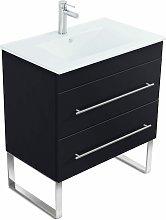 Mueble de baño con patas Casa Infinity 750 Negro