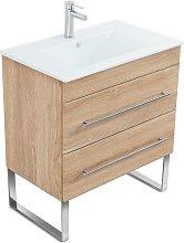 Mueble de baño con patas Casa Infinity 750 Roble