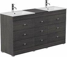 Mueble de baño con patas Cosmo clásico Antracita