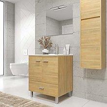 Mueble de baño con Patas y Lavabo de Porcelana -