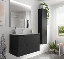 Mueble de baño de 80 cm Negro Optimus Salgar