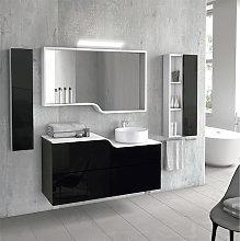 Mueble de baño de Inve Curvas suspendido con tapa