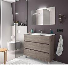 Mueble de baño de pie 100 cm de madera Roble