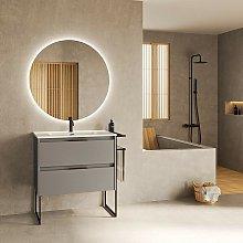 Mueble de baño de pie 100 cm Virginia Humo