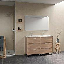 Mueble de baño de pie 120 cm Minnesota Nogal