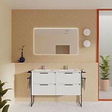 Mueble de baño de pie 120 cm Virginia Blanco