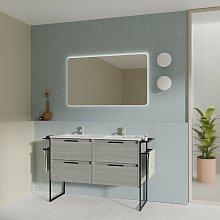 Mueble de baño de pie 120 cm Virginia Gris