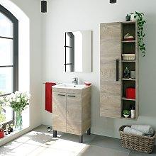 Mueble de baño de pie 50 cm Roble con Lavabo y