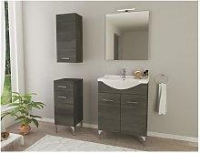 Mueble de baño de pie 55 cm Ambra de madera Roble