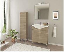 Mueble de baño de pie 55 cm de madera Ambra Roble