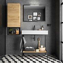 Mueble de baño de pie 80 cm con estructura de