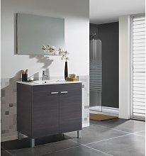 Mueble de baño de pie 80 cm gris ceniza con