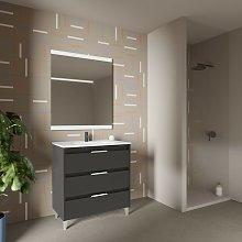Mueble de baño de pie 80 cm Minnesota Antracita