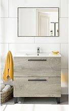 Mueble de baño de pie 80 cm Roble con Lavabo y