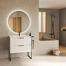 Mueble de baño de pie 80 cm Virginia Blanco
