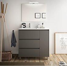 Mueble de baño de pie 85 cm de madera Gris Mate