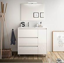 Mueble de baño de pie 85 cm de madera lacada