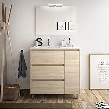 Mueble de baño de pie 85 cm de madera Roble