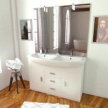 Mueble De Baño Doble Lavabo Blanco 120Cm C/Patas
