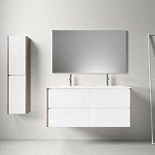 Mueble de baño montado 120cm DEKA, roble oscuro y