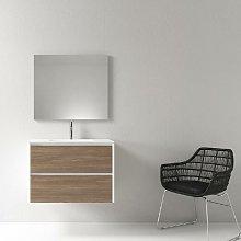Mueble de baño montado 80cm DEKA, roble oscuro y