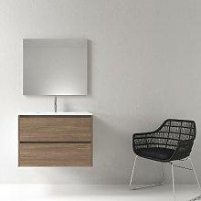 Mueble de baño montado 80cm DEKA, roble oscuro