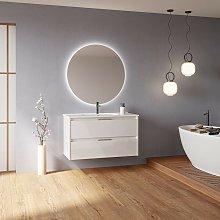 Mueble de baño suspendido 100 cm Minnesota Blanco