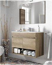 Mueble de baño suspendido 80 cm color nordik con