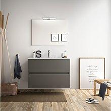 Mueble de baño suspendido 80 cm Gris Mate con