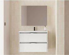 Mueble de baño suspendido 80 cm Minnesota Blanco
