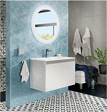 Mueble de baño suspendido 80 cm Moon blanco