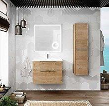 Mueble de Baño Suspendido con Lavabo Cerámico