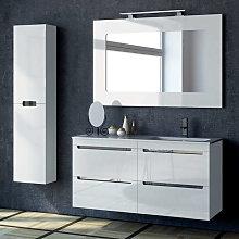 Mueble de baño Torvisco Loa suspendido 4 cajones