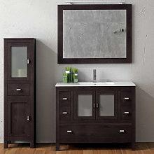 Mueble de baño Torvisco Loira con patas wengué