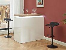 Mueble de bar HALO II - MDF lacado blanco - LEDs -