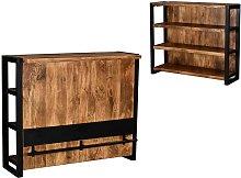 Mueble de bar HARLEM - Madera de mango y metal -
