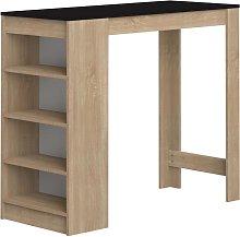 Mueble de bar JANIS - Color Roble y Negro