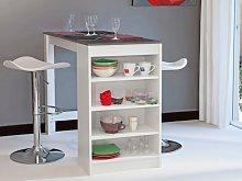 Mueble de bar JANIS - Tapa símil hormigón -