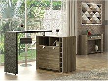 Mueble de bar METEORITE - 2 puertas y 2 huecos -