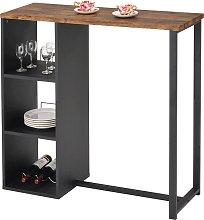 Mueble de bar MORENA - Metal y MDF - Tablero con