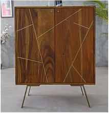 Mueble de bar ORPHEA - 2 puertas - Madera de