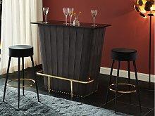 Mueble de bar VELVETO - Mdf y tela aterciopelada -