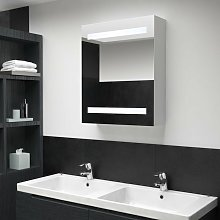 Mueble de cuarto de baño con espejo LED 50x14x60