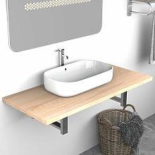 Mueble de cuarto de baño roble 90x40x16,3 cm -