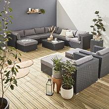 Mueble de jardin, conjunto sofa de exterior, ratan