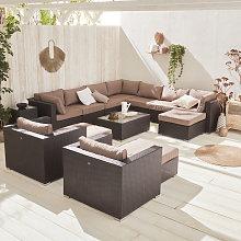 Mueble de jardín, conjunto sofá de exterior,