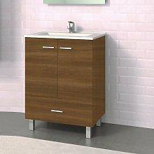 Mueble de Lavabo con Patas RAKI - 60 cm de ancho