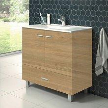 Mueble de Lavabo con Patas RAKI - 80 cm de ancho