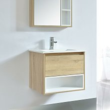 Mueble de lavabo FRAME 60 cm color roble